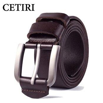 dab0afeb357a CETIRI kemer воловья кожа geniune кожаные мужские ремни винтажные  металлические джинсы ...