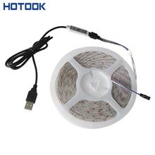 DC 5V USB LED Strip Light Tape Waterproof RGB 50cm 1m 2m 5m 2835 60leds/m Flexible Rope TV Background Lighting + Controller Kit