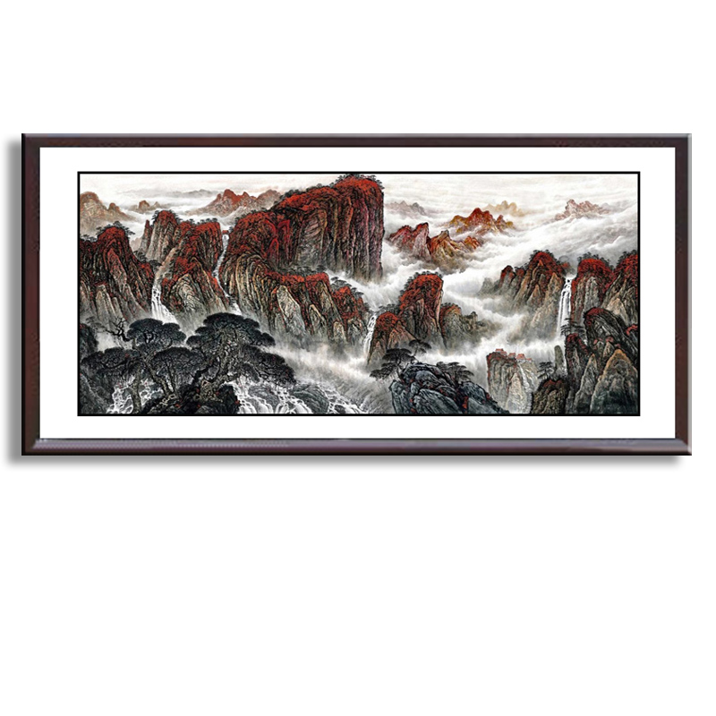 miMountain and River art painting Chinese traditional landscape mountain and river painting Chinese Wash painting WP-001 ...
