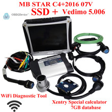 De calidad superior mb estrella c4 sd conecta multi-idioma v2016-7 con panasonic CF19 ayuda Wifi mb sd estrella c4 de trabajo con el coche y camión