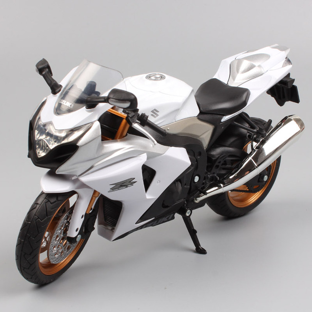 Us 17 72 28 Off Brand 1 12 Mini Scale Automaxx Suzuki Gsx R1000 Diecast Moto Metal Motorcycle Sport Bike Racing Models Gifts For Boys Toys White In