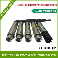 DHL Free Shipping 5 Pins New DMX512 DMX Dfi DJ Wireless System Receiver Or Transmitter 2