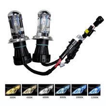 2pcs headlight lamps H4 35W 55W 12V Xenon kit 9004 9007 H13 HID xenon bulbs bi light 6000K 3000K white yellow fog lamp