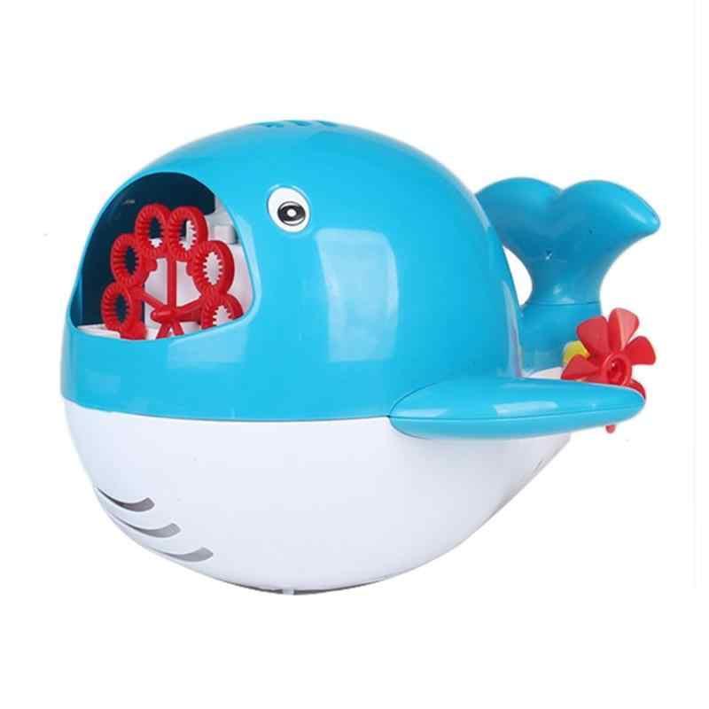 Пузырьковая машина подводная лодка в форме Кита автоматическая световая музыка пузырь воздуходувка Детская ванна играющая игрушка прекрасный оборудование для игр в воде