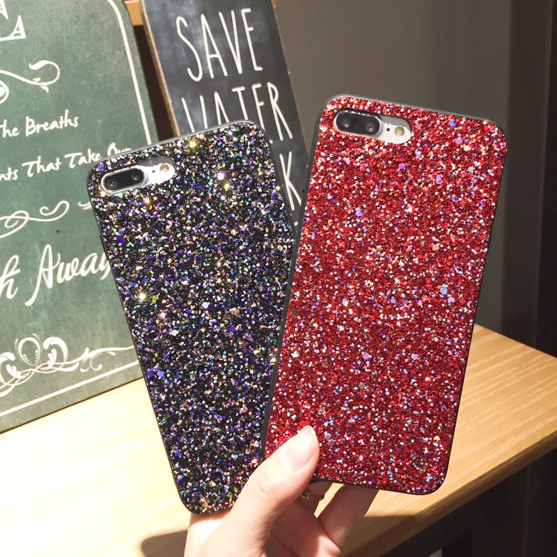 Bling Case For iPhone X10 Case 7 6 6S 8 Plus Cover Fashion Shiny Hard Back Shell Coque for Apple iPhone iPhone6Plus iPhone7plus