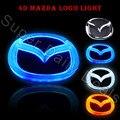 Auto Mazda LED Fría Luz Posterior de la Divisa del emblema de la Etiqueta Engomada de La Lámpara para Mazda M2 M3 M6 M8 M-CX7 4d insignia Del Coche de la luz de La Gota gratis