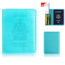 Canada Card Holder Purse Multi-function Bag Cover RFID Blocking Holder Protector Wallet Business Card Passport Cover Bag
