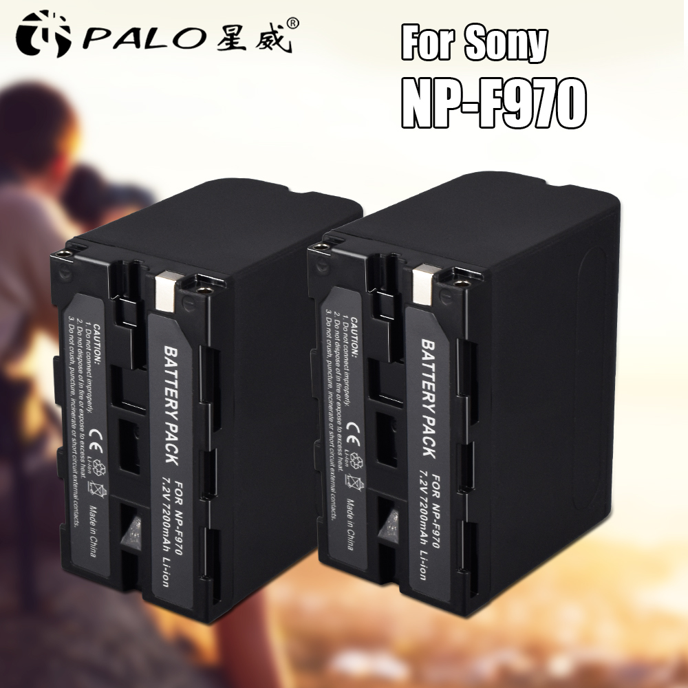 2pcs 7.2V 7200mAh Rechargeable Digital Battery NP F960 F970 for Sony NP F960 NP F970 Camera