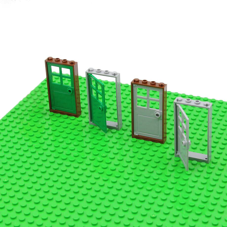 Single Legoinglys Door And Windows For House MOC Accessories Building Block Sets Bricks Models DIY Educational Toys For Children