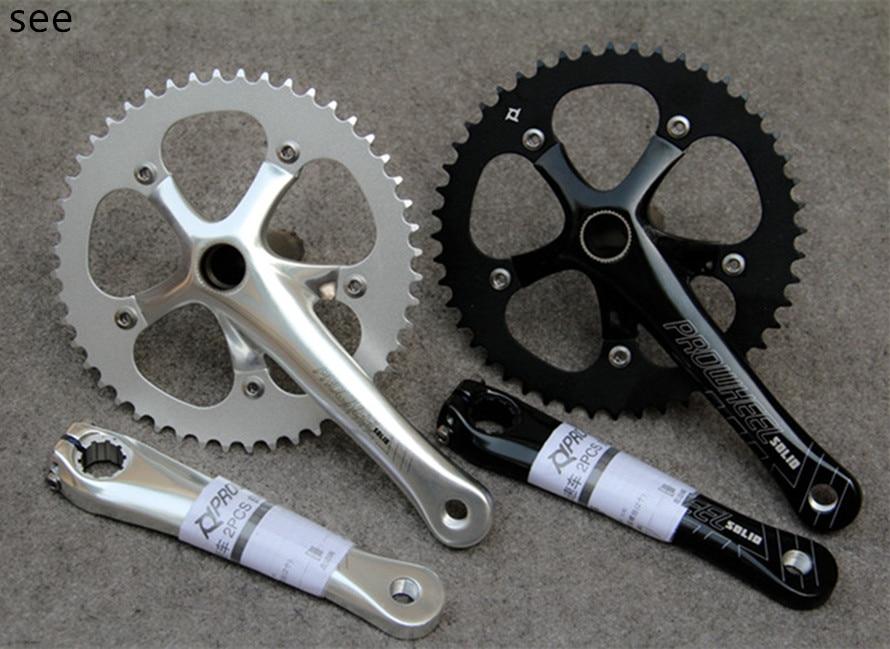 fixed gear bike chainwheel PROWHEEL SOLID 246T 48T crankset bicycle chainwheel singer speed racing aluminum alloy