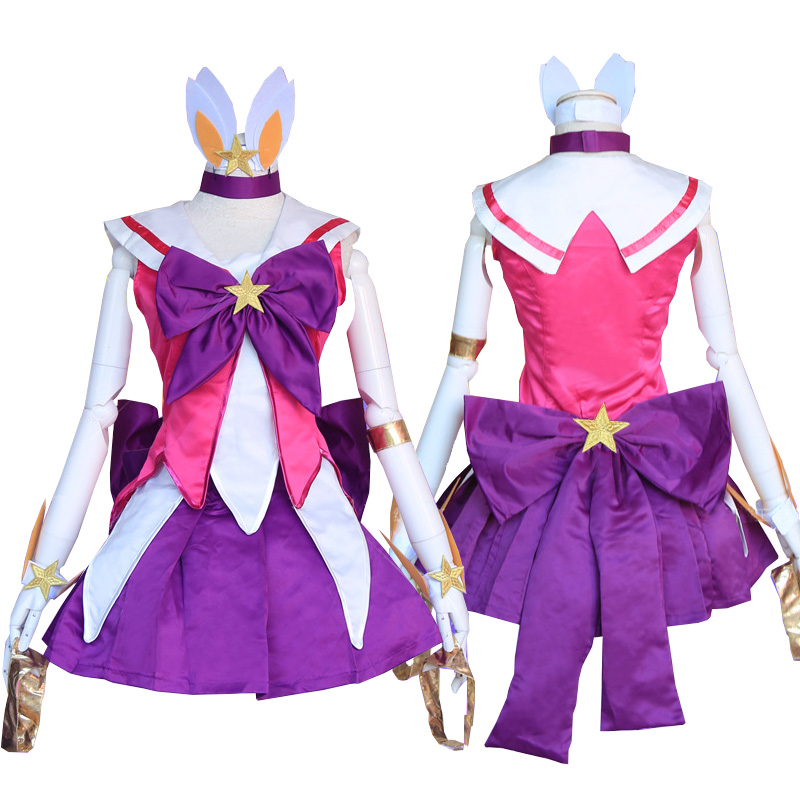 League of Legends  LOL Star Guardian Janna Dress Cosplay Costumes Full Set