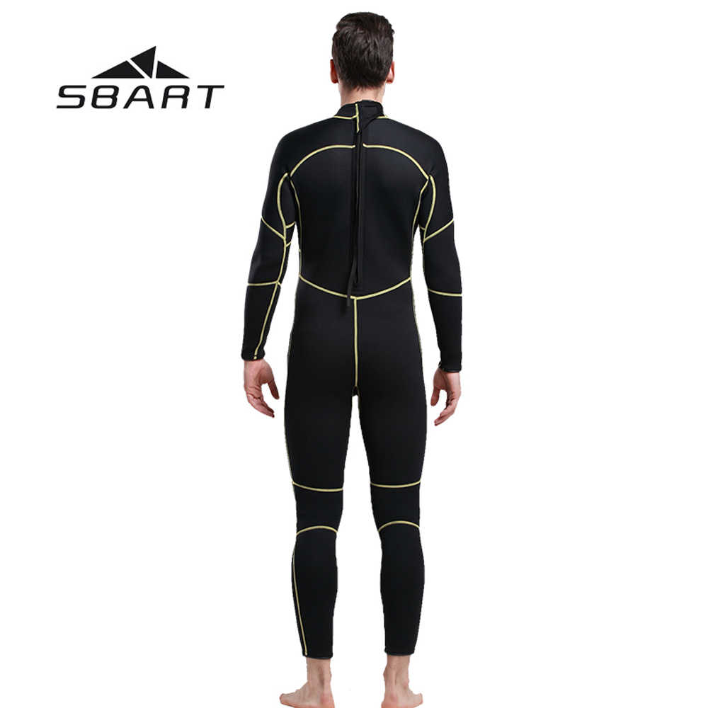 2018 NIEUWE SBART 3mm Mannen Wetsuit Full Body Strand Badmode Duiken Snorkelen Wetsuit Een Stukken Pak Jumpsuit 3mm Neopreen