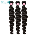Brazilian Virgin Hair Loose Wave 3Pcs Natural Color Brazilan Loose Wave Virgin Human Hair Weave 6A Brazilian Curly Virgin Hair