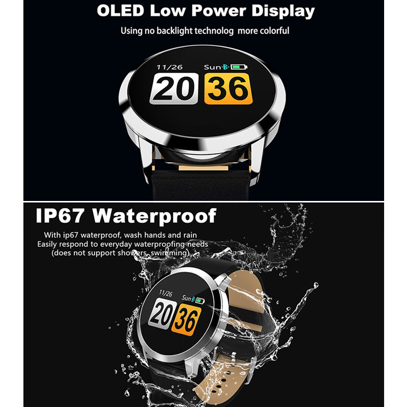 Fitness Smart Watch Men Women OLED Screen Heart Rate Monitor Blood Pressure Touch Pedometer Health Sport Watch For Android IOS 4