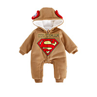 Winter Fashion Baby Rompers Newborn Kids Cotton Superman Costumes Long Sleeve Jumpsuits One Pieces Baby Boy