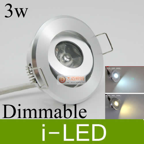 Silver Mini 3w Led Downlight Dimmable Recessed Lights Exhibition Light Lamp Display 110 240v Warm Cold White Ul Ce In Downlights From