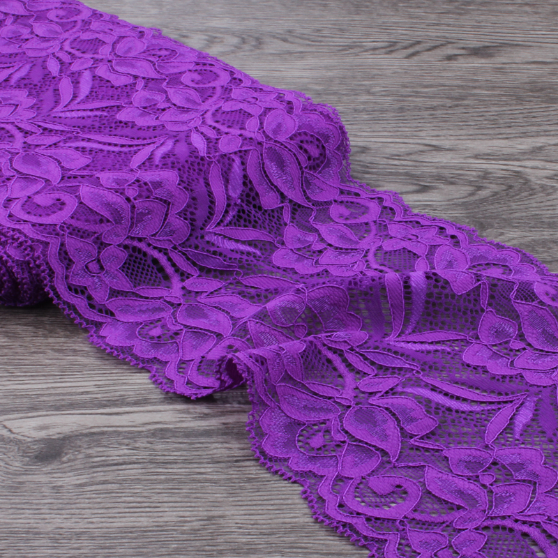 MASOKAN 1pack 10yards 15cm wide Tulle Lace Trim Lace Ribbon for Ornaments Elastic Lace Stretch for Baby Girls Hair Accessories in Lace from Home Garden