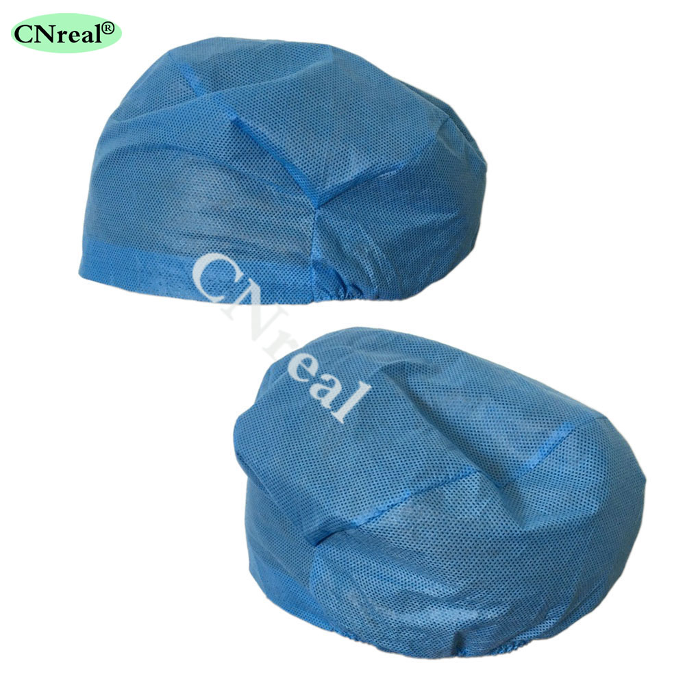 100 Pieces/lot Disposable Surgical Caps Medical Doctor Hat Non-woven Fabric