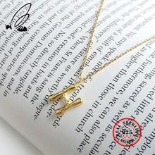Letter H Necklaces Pendants 100% 925 Sterling Silver Gothic Couple Initial Necklace Collar Largo Colier Femme Bijoux Joyas