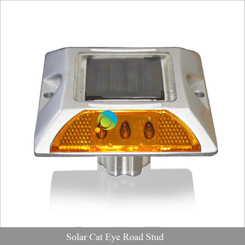 Promotional Yellow Color Led Flashing Light 3M Reflcetor Waterproof Cat Eye LED Solar Road Stud