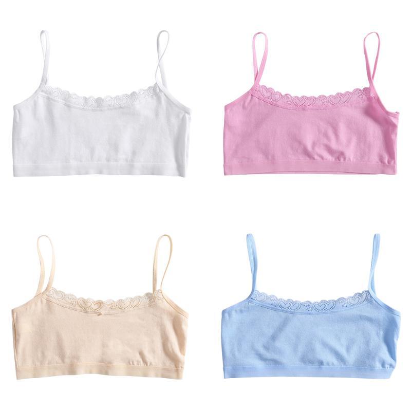 2525fb0749 iMucci Solid Women Soft Cotton Bra Puberty Teenage Breathable Underwear  Training Bra