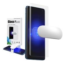 Protecteur décran verre trempé pour Oneplus 7 Pro avec empreinte digitale déverrouiller film de verre UV couverture complète pour Oneplus 7T Pro