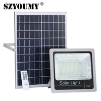SZYOUMY New Solar Led Flood Light Outdoor 40 120W with Timer Control Solar Floodlight with Power Indicator and on/off switch