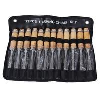 Hakkin 12Pcs/set Wood Carving Chisel Set Hand Chisel Tool Kit Woodworking Carving Chisels Tools DIY Tools Detailed Hand Tools