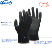 Protective-Gloves Blackrock Pu-Safety-Work 6-Pairs