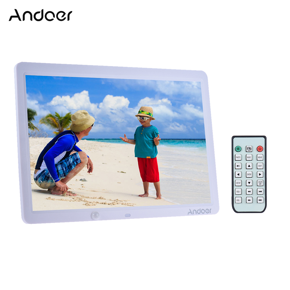 Andoer 15 Digital Photo Frame Album 1280 800 Wall Mountable Desktop Digital Picture Frame Remote Control