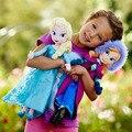 Горячие Продажи Высокое Качество Детские Игрушки Плюшевые Игрушки Снежная Королева Принцесса кукла 40 см Анна и Эльза Свен Олаф Brinquedos Лучший Игрушки HT2273