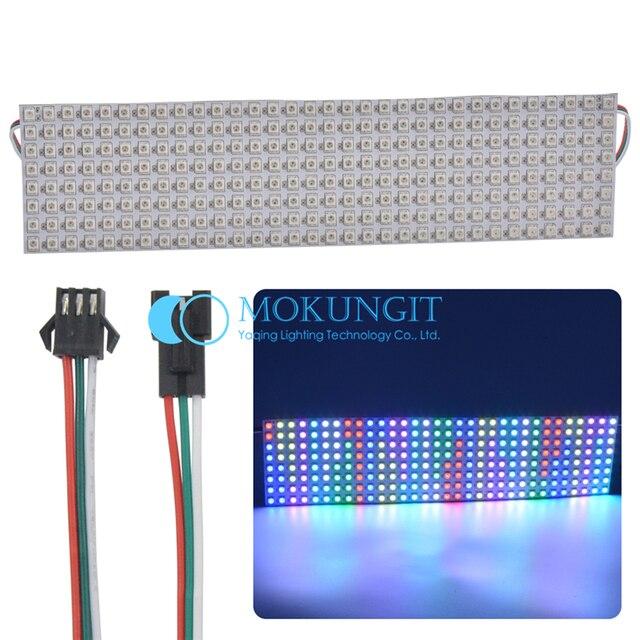 Mokungit 8x8 8x16 16x16 8x32 WS2812B SK6812 5050 RVB pixels numérique flexible led adressable écran matrice affichage écran 5 V