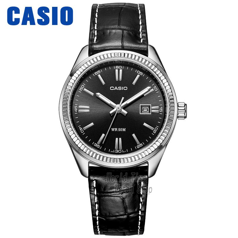 Casio watch Simple leather black plate calendar quartz female watch LTP-1302D-7A2 LTP-1302D-7A1 LTP-1302D-1A2 LTP-1302D-1A1 casio ltp 1302pd 7a1