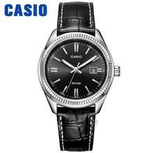 Casio watch Simple leather black plate calendar quartz female watch LTP 1302D 7A2 LTP 1302D 7A1
