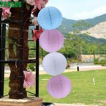 FANLUS 12 ιντσών στρογγυλά κινεζικά φανάρια χαρτιού με φώτα LED Ποικιλία χρωμάτων Μεγέθη Fiesta / Γενέθλια / Είδη γάμου / οροφής Party Supplies