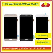 """מקורי 5.5 """"עבור Samsung Galaxy J7 neo J701 J701F J701M J701MT LCD תצוגה עם מסך מגע Digitizer פנל Pantalla מלא"""