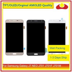 """Image 1 - Oryginalny 5.5 """"dla Samsung Galaxy J7 neo J701 J701F J701M J701MT wyświetlacz LCD z ekranem dotykowym panel digitizera Pantalla pełna"""