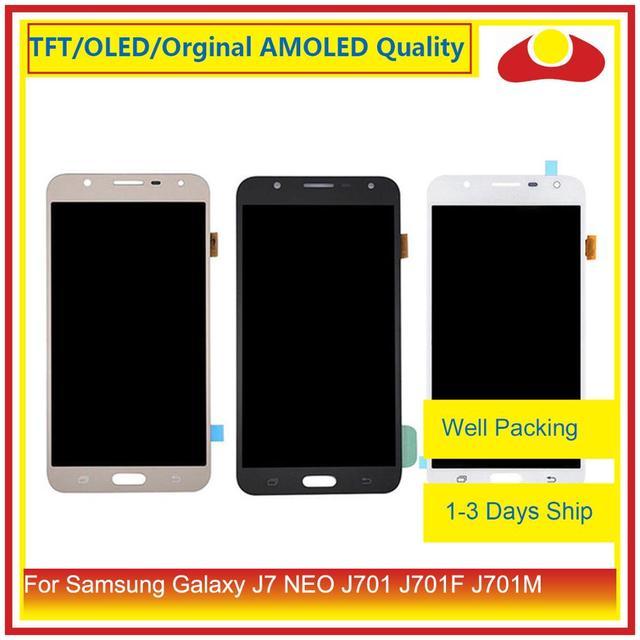 """Oryginalny 5.5 """"dla Samsung Galaxy J7 neo J701 J701F J701M J701MT wyświetlacz LCD z ekranem dotykowym panel digitizera Pantalla pełna"""