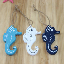 Mediterranean vintage seahorse wooden fish skewers starfish personality creative crafts childrens room decor wall hangings