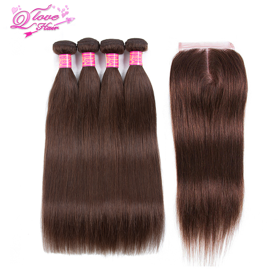 Queen Love Hair Pre Colored 100 Human Hair Mongolian Straight Bundles 4 Color Non Remy 4