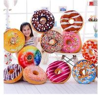 Simulation Donut shaped back cushion throw pillow 3D plush stuffed doll lumabr pillow seat cushion chair gift