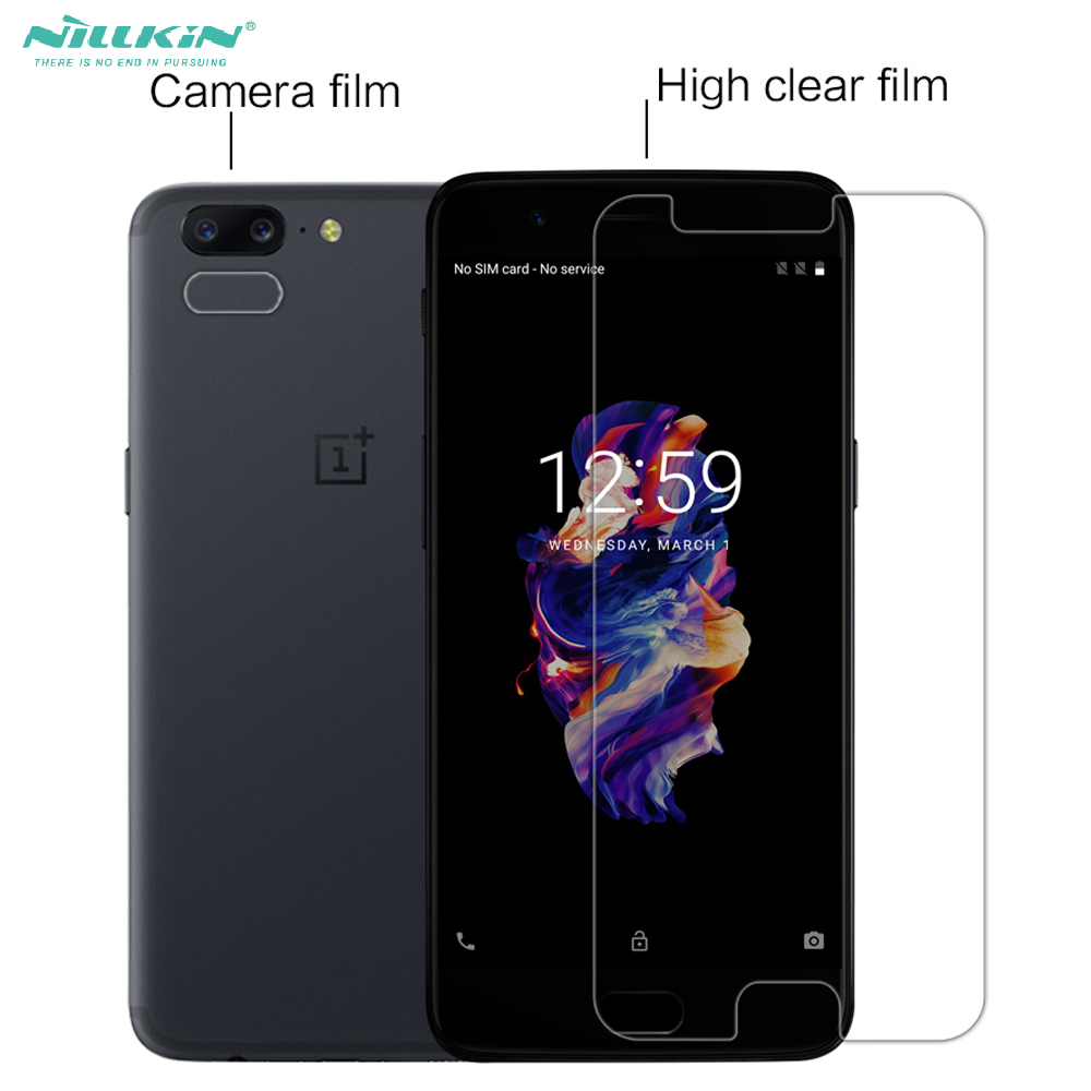 Nillkin Transparent glossy Screen Protector For oneplus 5 camera film anti-fingerprint matte Protect Film For Oneplus 5