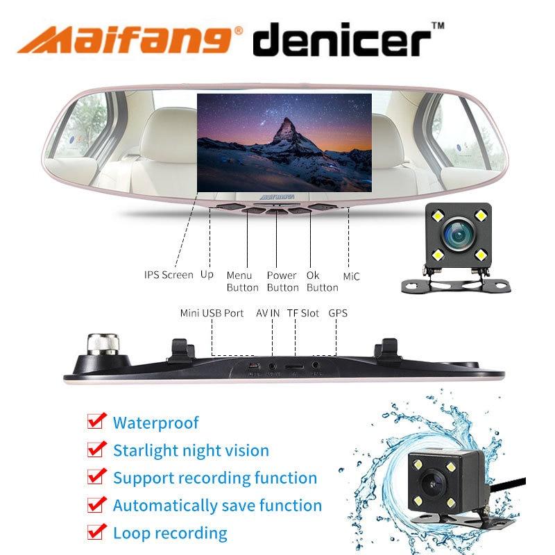 Зеркало-видеорегистратор Novatek 96655, Full HD 1080p, с видеорегистратором и камерой, ночное видение, двойной видеорегистратор
