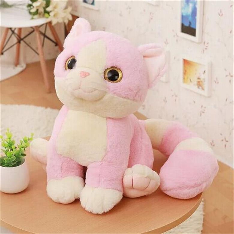 New Cute Cartoon Long Tail Cat Plush Toy Lovely Big Eyes -1314