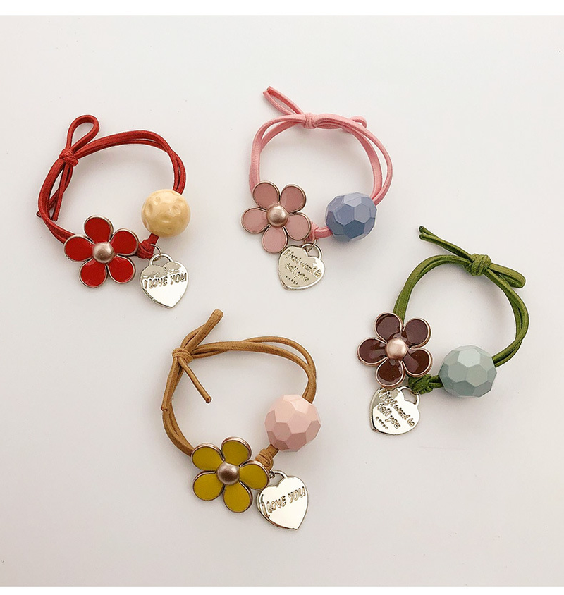 Mossovy Cute Flower Tie Rope Simple Korean Personality Rubber Band Hair Accessories for Women Fashion Hair Accessories Female in Women 39 s Hair Accessories from Apparel Accessories