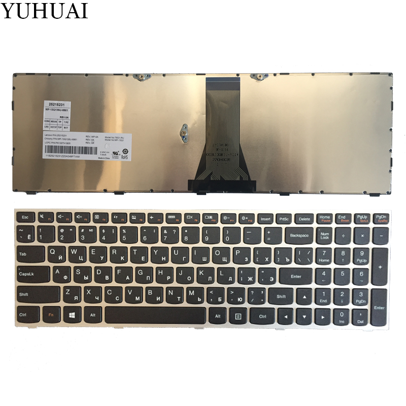 NOUVEAU Russe POUR Lenovo G50 Z50 B50-30 G50-70A G50-70H G50-30 G50-45 G50-70 G50-70m Z70-80 RU clavier d'ordinateur portable argent
