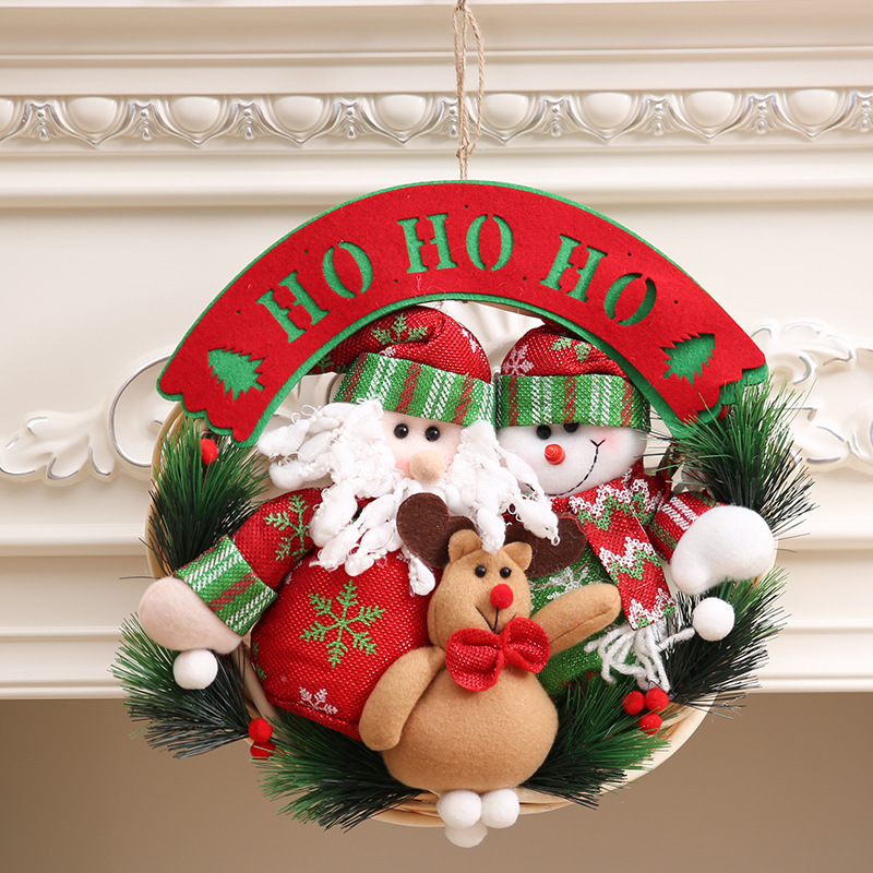 High Quality Christmas Ornaments Wreaths Ring Window Door Hanging Decoration Garland Home Decor 30 In Party Diy Decorations From