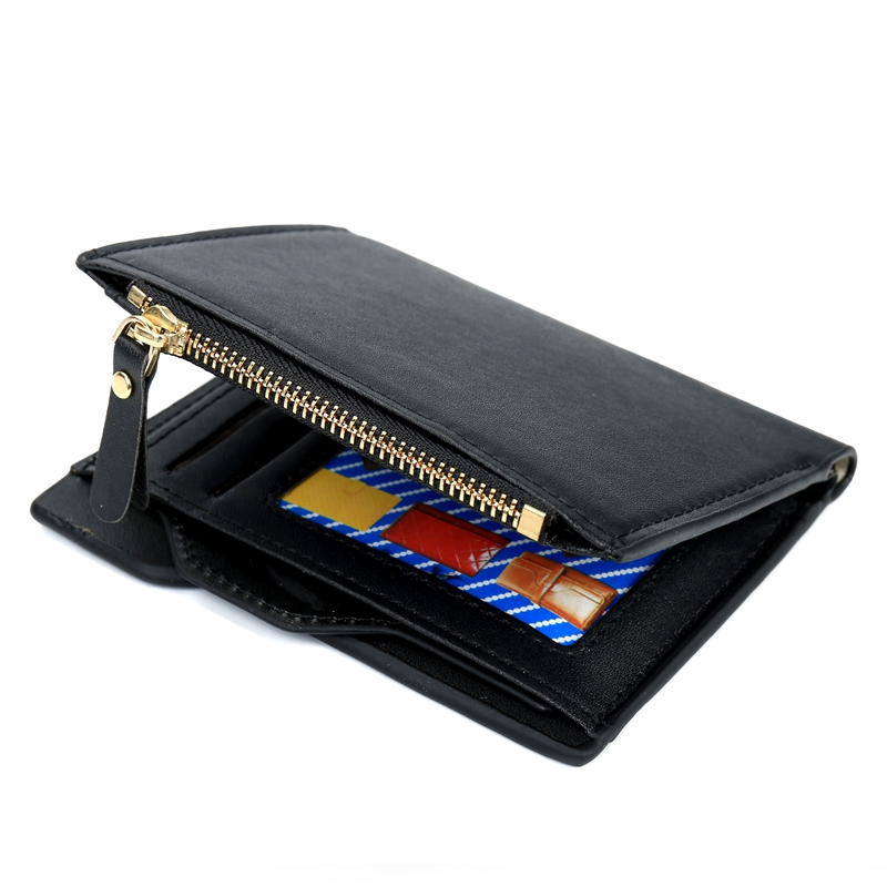 New Wallet Short Men Wallets PU Leather Male Purse Card Holder Wallet Fashion Man Zipper Wallet Men Coin Purse