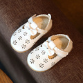Baby shoes Girls Princess tendon at the end of hollow infant bow shoes toddler soft bottom casual shoes for spring summer