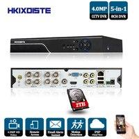 8Ch 1080 P 4.0MP безопасности 5 в 1 система видеонаблюдения аналоговая камера высокого разрешения цифровой видеорегистратор NVR видеомагнитофон xvr